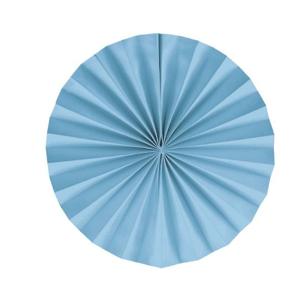 Leque Decorativo de Papel Azul 35cm - 02 unidades - Cromus - Rizzo Festas