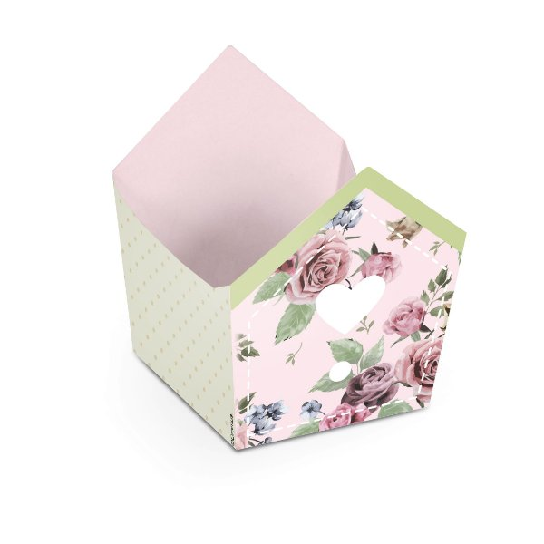 Mini Cachepot Festa Jardim Secreto - 10 unidades - Cromus - Rizzo Festas