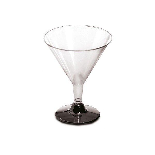 Taça de Martini com Base Prata 190ml - 06 unidades - Descartáveis de Luxo - Cromus - Rizzo Festas