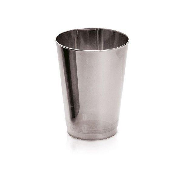 Copo Prata P 200ml - 06 unidades - Descartáveis de Luxo - Cromus - Rizzo Festas