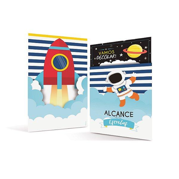 Convite Festa Astronauta - 8 unidades - Cromus - Rizzo Festas