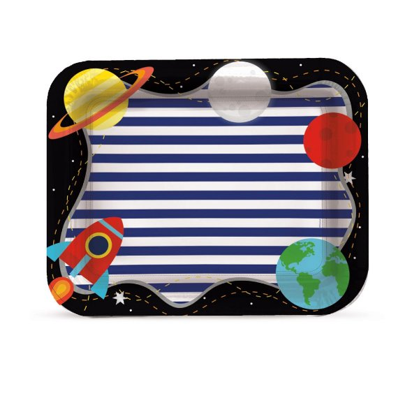 Bandeja Laminada Festa Astronauta - Cromus - Rizzo Festas
