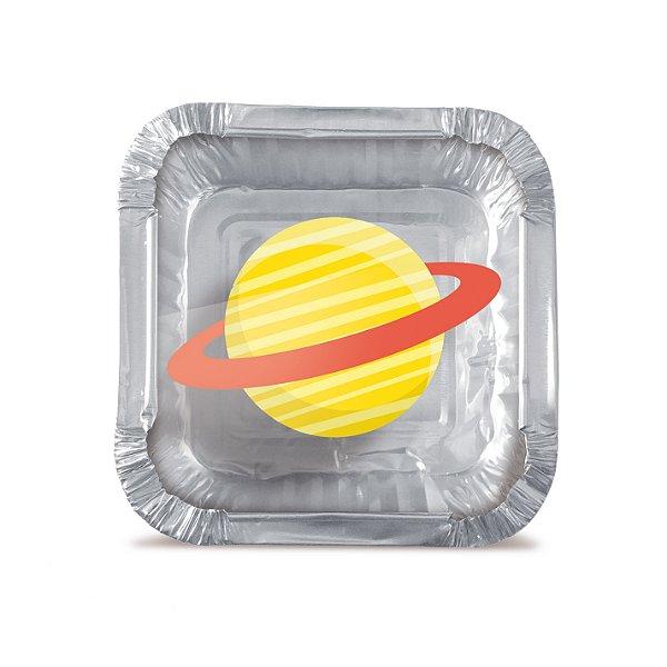 Mini Marmitinha Festa Astronauta P - 12 unidades - Cromus - Rizzo Festas