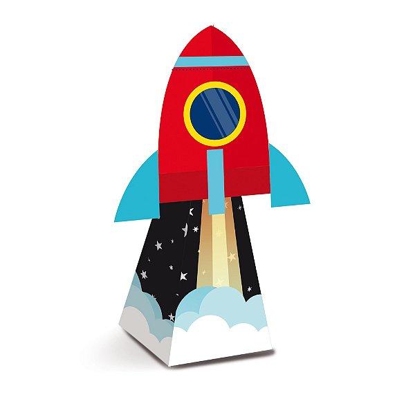Caixa Mini Cone com Aplique Festa Astronauta - 8 unidades - Cromus - Rizzo Festas