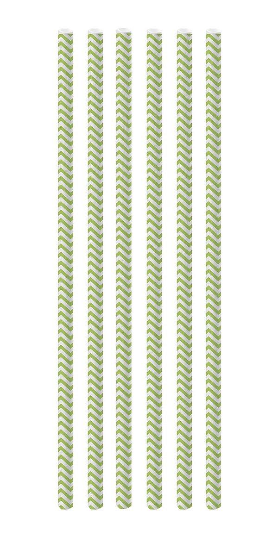 Canudo de Papel Missoni Verde - 20 unidades - Cromus - Rizzo Festas