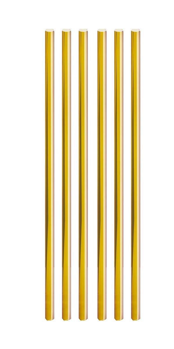 Canudo de Papel Liso Metalizado Dourado - 20 unidades - Cromus - Rizzo Festas