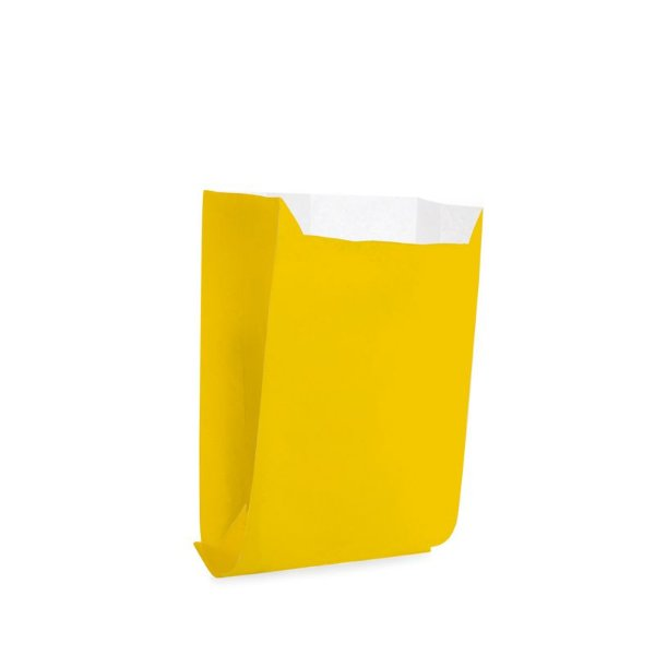 Saquinho de Papel para Mini Lanche - Liso Amarelo - 50 unidades - Cromus - Rizzo Festas