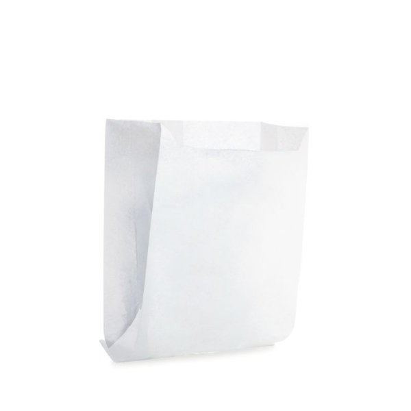 Saquinho de Papel para Mini Pizza e Hambúrguer - Liso Branco - 50 unidades - Cromus - Rizzo Festas