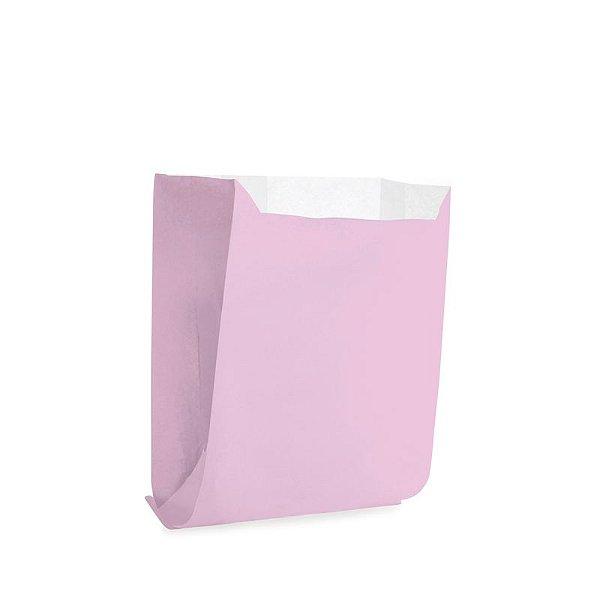 Saquinho de Papel para Mini Pizza e Hambúrguer - Liso Rosa - 50 unidades - Cromus - Rizzo Festas