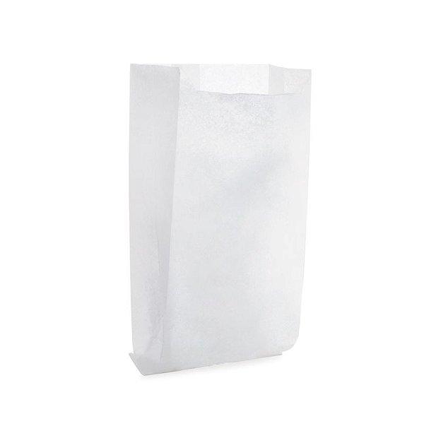 Saquinho de Papel para Pipoca - Liso Branco - 50 unidades - Cromus - Rizzo Festas