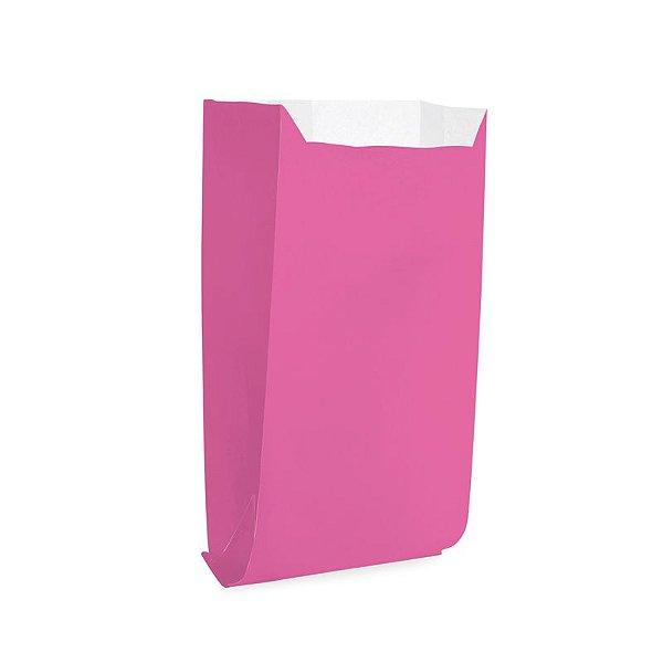 Saquinho de Papel para Pipoca - Liso Pink - 50 unidades - Cromus - Rizzo Festas