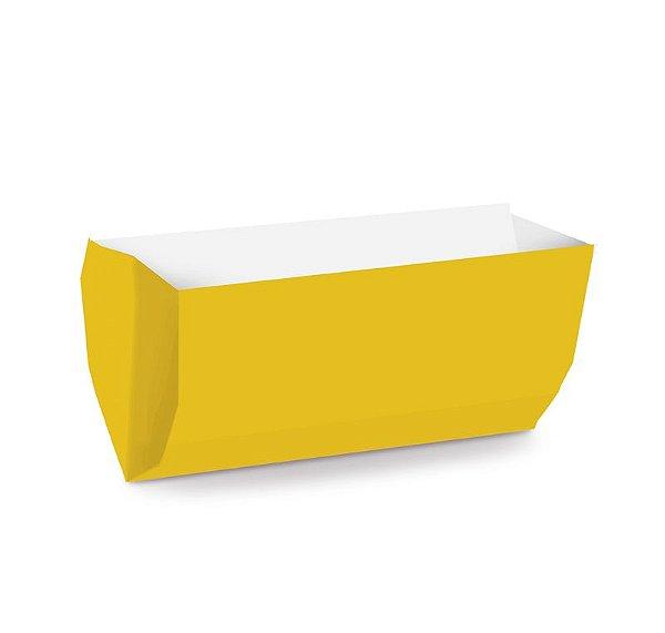 Saquinho de Papel para Hot Dog - Liso Amarelo - 50 unidades - Cromus - Rizzo Festas