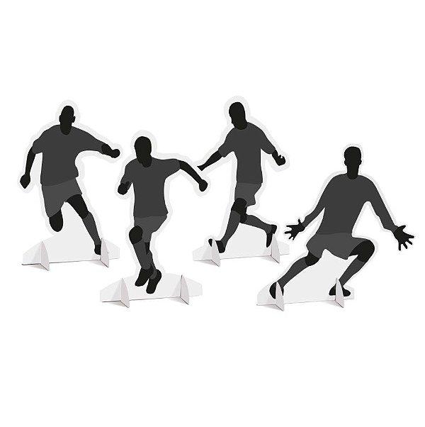 Decoração de Mesa Festa Futebol - 4 unidades - Cromus - Rizzo Festas