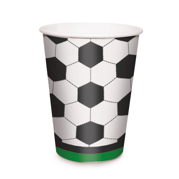 Copo de Papel Festa Futebol 240Ml - 8 unidades - Cromus - Rizzo Festas