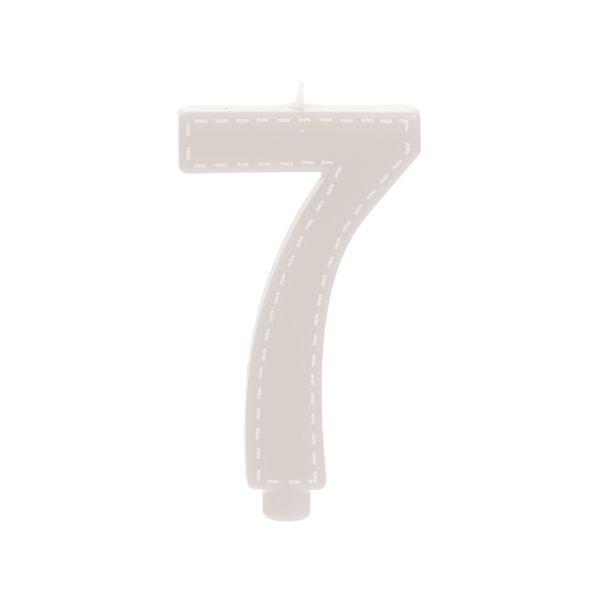 Vela de Aniversário nº7  Tracejada Branco G - 01 unidade - Cromus - Rizzo Festas