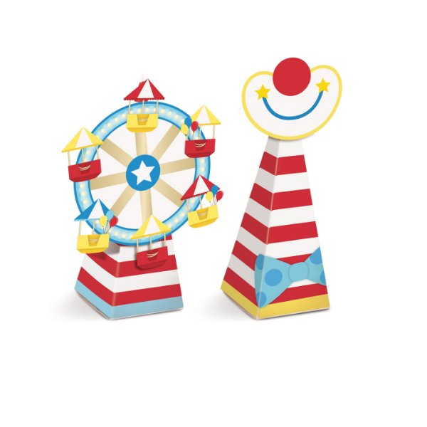 Caixa Mini Cone Festa Circo - 8 unidades - Cromus - Rizzo Festas