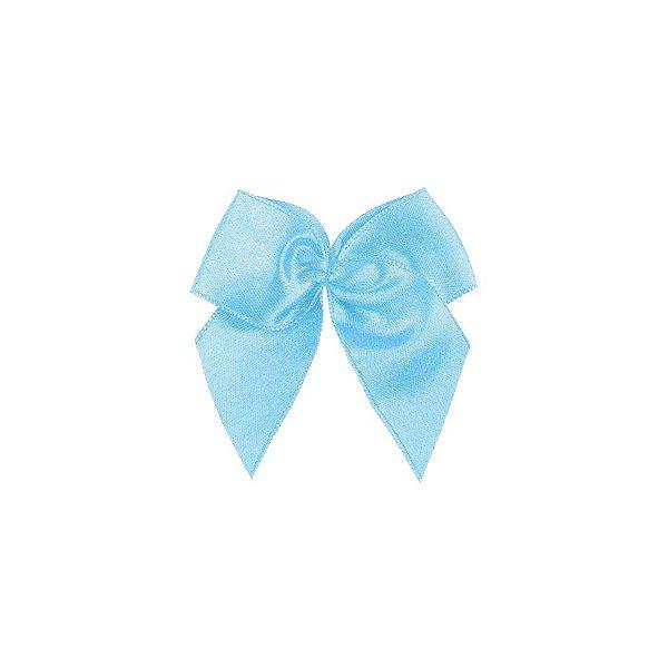 Laço Cetim Gordinho - Azul Bebê - 50 unidades - Rizzo Embalagens