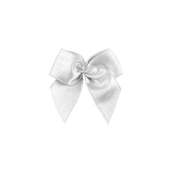 Laço Cetim Gordinho - Branco - 50 unidades - Rizzo Embalagens