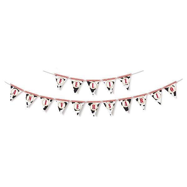 Faixa Feliz Aniversario Festa Fazendinha - Cromus - Rizzo Festas
