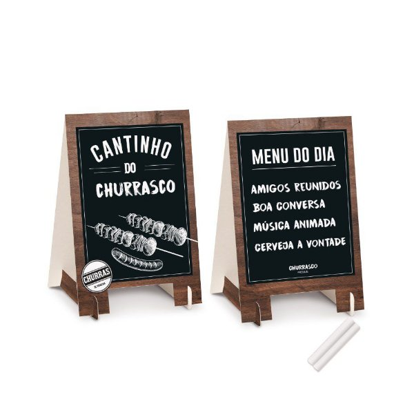 Kit Cavalete Decoração De Mesa Festa Churrasco - 2 unidades - Cromus - Rizzo Festas