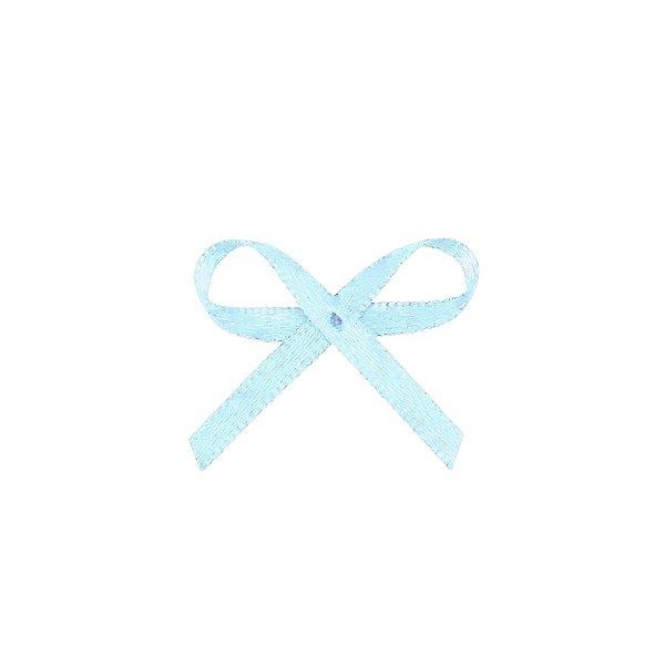 Laço Cetim Mosquitinho - Azul Bebê - 100 unidades - Rizzo Embalagens