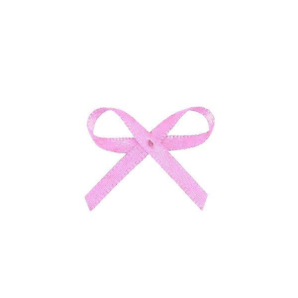 Laço Cetim Mosquitinho - Rosa Bebê - 100 unidades - Rizzo Embalagens