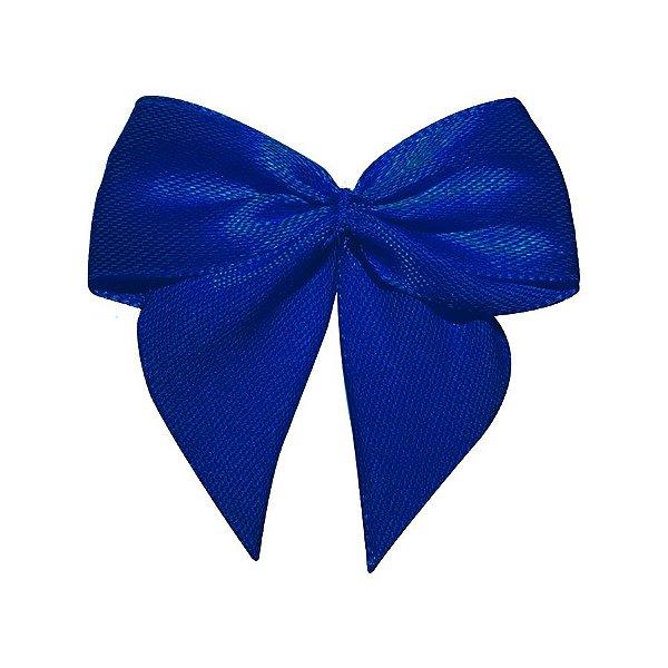 Laço Cetim Gravatão - Azul Royal - 10 unidades - Rizzo Embalagens