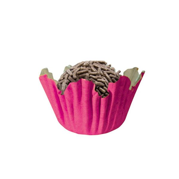 Forminhas para Doces N° 5 Recortada Pink com 100 unidades Mago Rizzo Embalagens