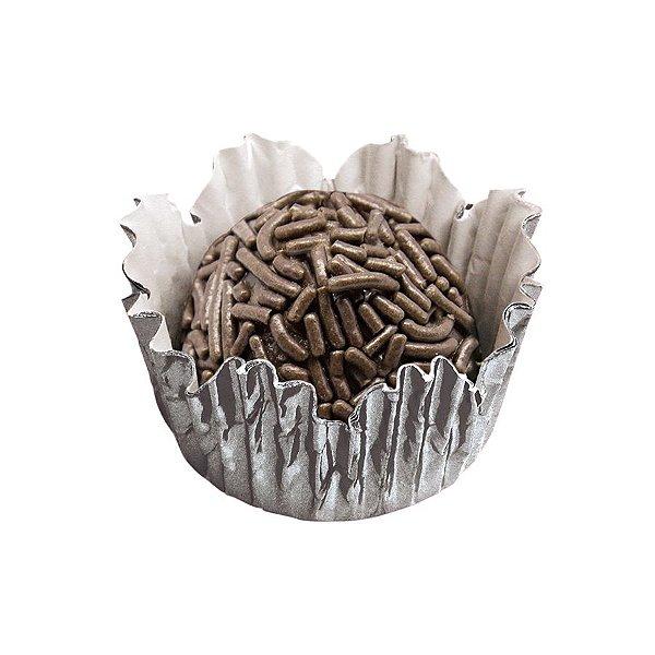 Forminhas para Doces N° 4 Recortada Prata Metalizada com 50 unidades Mago Rizzo Embalagens