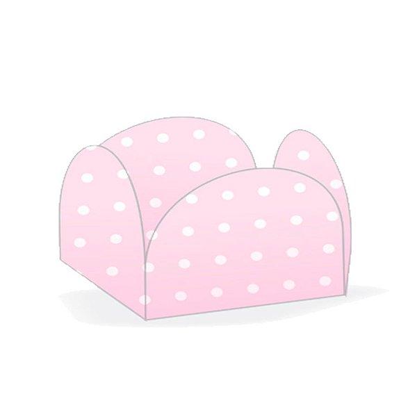 Forminhas para Doces 4 Pétalas Poá Rosa e Branco 50 unidades NC Toys Rizzo Embalagens