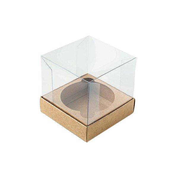 Caixa Mini Bolo M (7cm x 7cm x 7cm) Kraft 10 unidades Assk Rizzo Embalagens