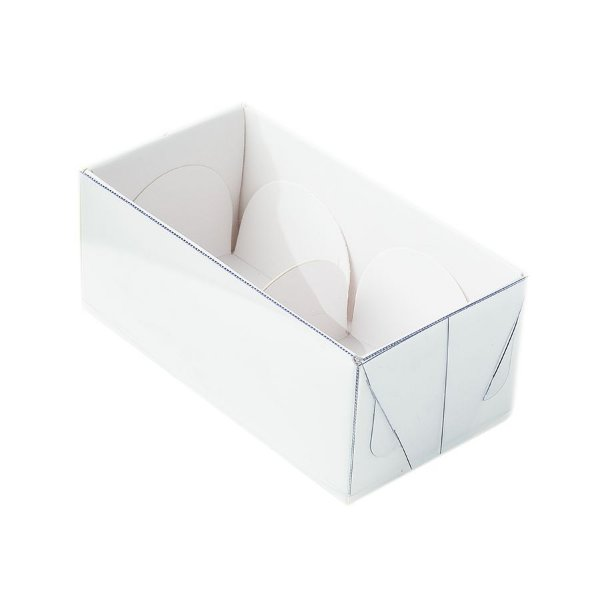 Caixa 2 Doces com Tampa Transparente Nº 2 (8,5cm x 4cm x 4cm) Branca 10 unidades Assk Rizzo Embalagens