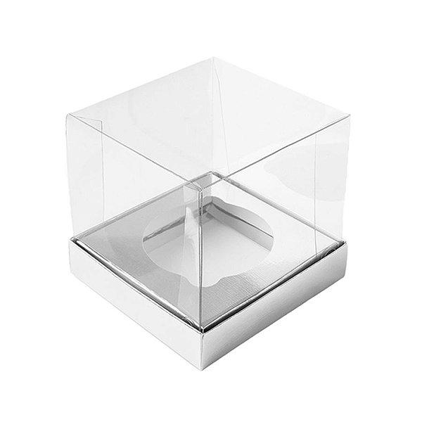 Caixa Mini Bolo GG (10cm x 10cm x 10cm) Prata 10 unidades Assk Rizzo Embalagens