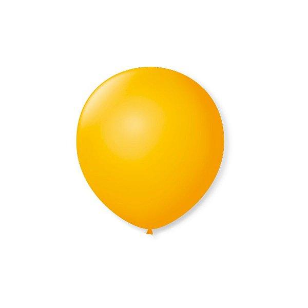 Balão de Festa Latex 5'' 13cm - Amarelo Sol - 50 unidades - São Roque - Rizzo Festas