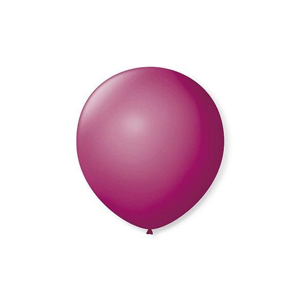 Balão de Festa Latex 5'' 13cm - Púrpura - 50 unidades - São Roque - Rizzo Festas