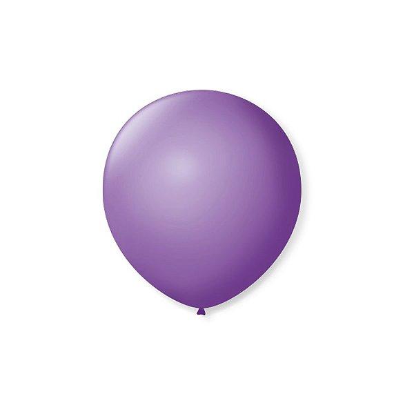 Balão de Festa Latex 5'' 13cm - Roxo Ametista - 50 unidades - São Roque - Rizzo Festas