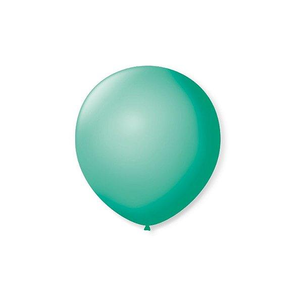 Balão de Festa Latex 5'' 13cm - Tiffany - 50 unidades - São Roque - Rizzo Festas