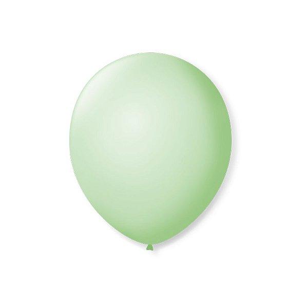 Balão de Festa Latex 7'' 18cm - Verde Hortelâ - 50 unidades - São Roque - Rizzo Festas