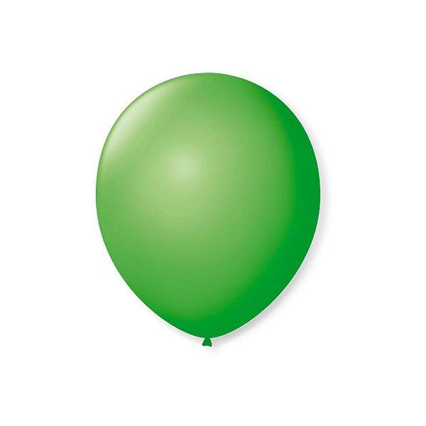 Balão de Festa Latex 7'' 18cm - Verde Maça - 50 unidades - São Roque - Rizzo Festas