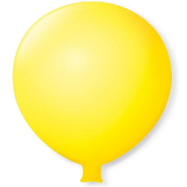Balão Gigante em Latex 25'' 64cm - Amarelo - São Roque - Rizzo Festas