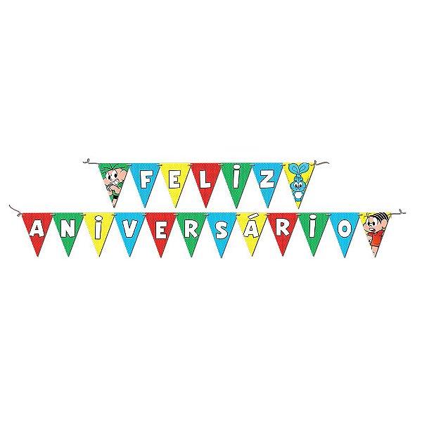Faixa Feliz Aniversário Festa Turma da Mônica - Festcolor - Rizzo Festas