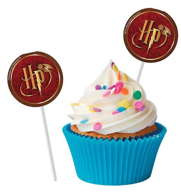 Topper Festa Harry Potter - 8 unidades - Festcolor - Rizzo Festas