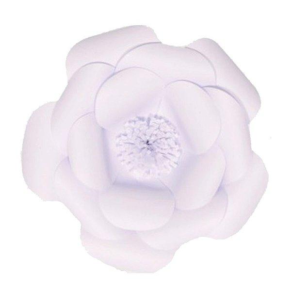 Flor de Papel Decoração Festa - Camélia 32cm P Branca - Decora Doces - Rizzo Festas