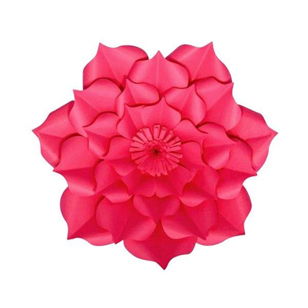 Flor de Papel Decoração Festa - Flor do Campo 27cm PP Rosa Pink - Decora Doces - Rizzo Festas