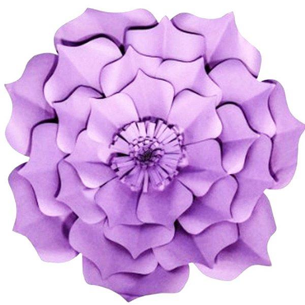 Flor de Papel Decoração Festa - Flor do Campo 39cm M Lilás - Decora Doces - Rizzo Festas
