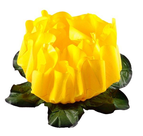 Forminha para Doces Finos - Rosa Maior Amarelo Vivo 40 unidades - Decora Doces - Rizzo Festas