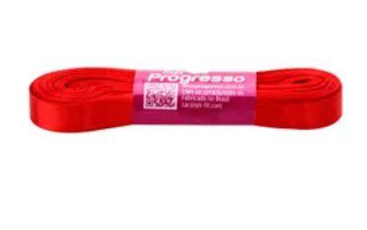 Fita de Cetim Progresso 10mm nº2 - 10m Cor 1354 Vermelho Tomate - 01 unidade - Rizzo Embalagens
