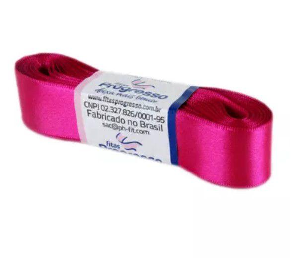 Fita de Cetim Progresso 22mm nº5 - 10m Cor 303 Pink - 01 unidade - Rizzo Embalagens