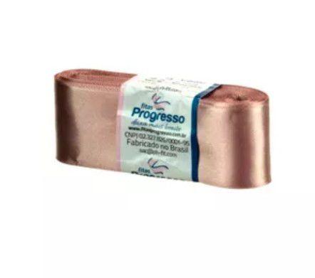 Fita de Cetim Progresso 38mm nº9 - 10m Cor 971 Chocolate - 01 unidade - Rizzo Embalagens