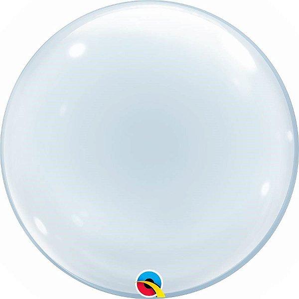 Balão Bubble Transparente - 20'' 51cm - Qualatex - Rizzo festas